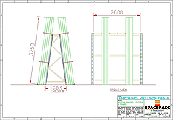 CAD Drawing A-Frame Racking