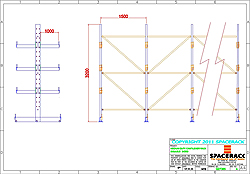 CAD Drawing Cantilever Racking