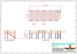CAD Drawing Raised Storage Area Warehouse