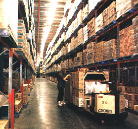 Woolworths Warehouse Racking