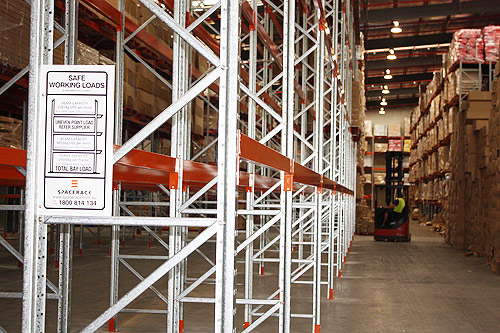 Pallet Racking Safety Signs from Spacerack, Queensland