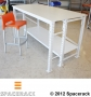 White Workbench with Powder Coated Posts, Beams and Braces